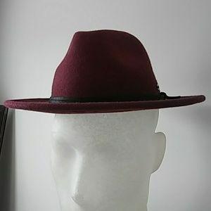 Other - Burgundy Fedora Hat